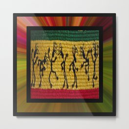 lively up reggae dancers (square) Metal Print