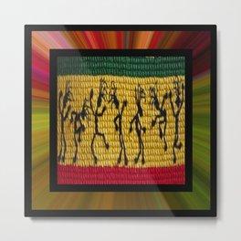 lively up reggae dancers (square) Metal Print