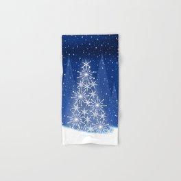 Snowy Night Christmas Tree Holiday Design Hand & Bath Towel
