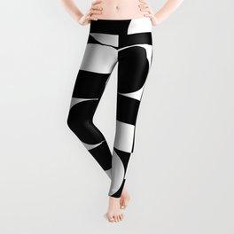 Black and White  Minimal Geometric 0087 Leggings