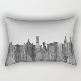 Aberdeen, Scotland Skyline - Navaho B&W Rectangular Pillow