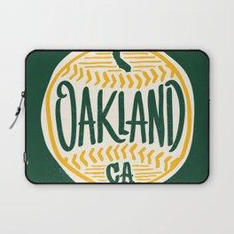 Hand Drawn Baseball for Oakland California with custom Lettering Laptop Sleeve