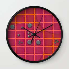 """Galactic spots & squares pattern"" Wall Clock"