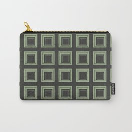 Green Squares Carry-All Pouch