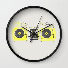 DJ Vinyl Decks And Mixer Wall Clock