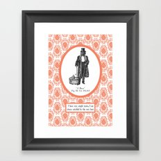 Satisfaction Simply Framed Art Print