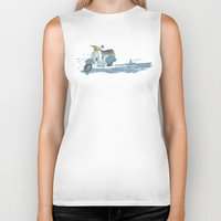 vespa Biker Tanks featuring Vespa by mtheb