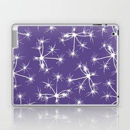 Floral Fireworks - Ultra Violet Botanical Pattern Laptop & iPad Skin