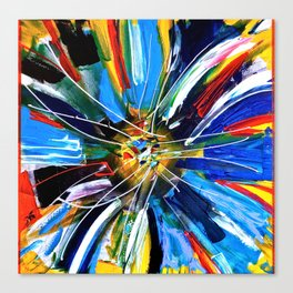 Dutch Spin - Colorful abstract painting flower Canvas Print