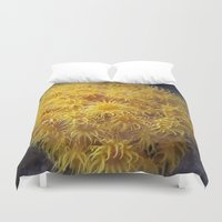 coral Duvet Covers featuring Coral by Deborah Janke