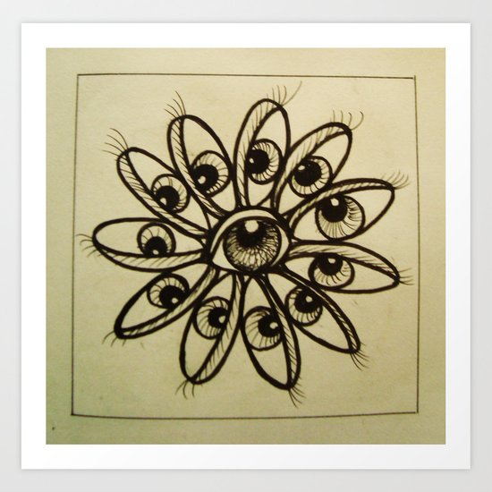 Eye Flower Art Print