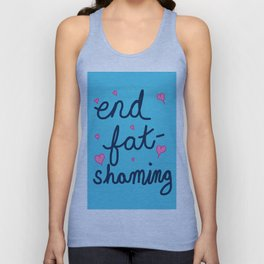 End Fat-Shaming Unisex Tank Top
