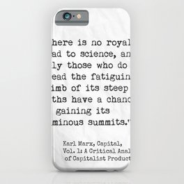 Karl Marx, Capital, quote iPhone Case