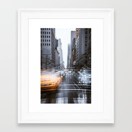 Streets as grey as my mood Framed Art Print