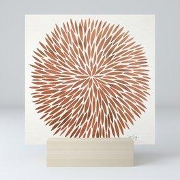 Rose Gold Burst Mini Art Print