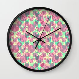 Mickey Mouse Arrows in Pink, Mint, and Yellow Wall Clock
