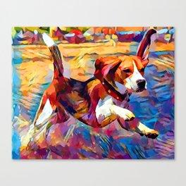 Beach Beagle Canvas Print
