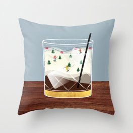 Cocktail Landscape White Russian Throw Pillow