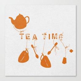 Orange Tea Time II Canvas Print