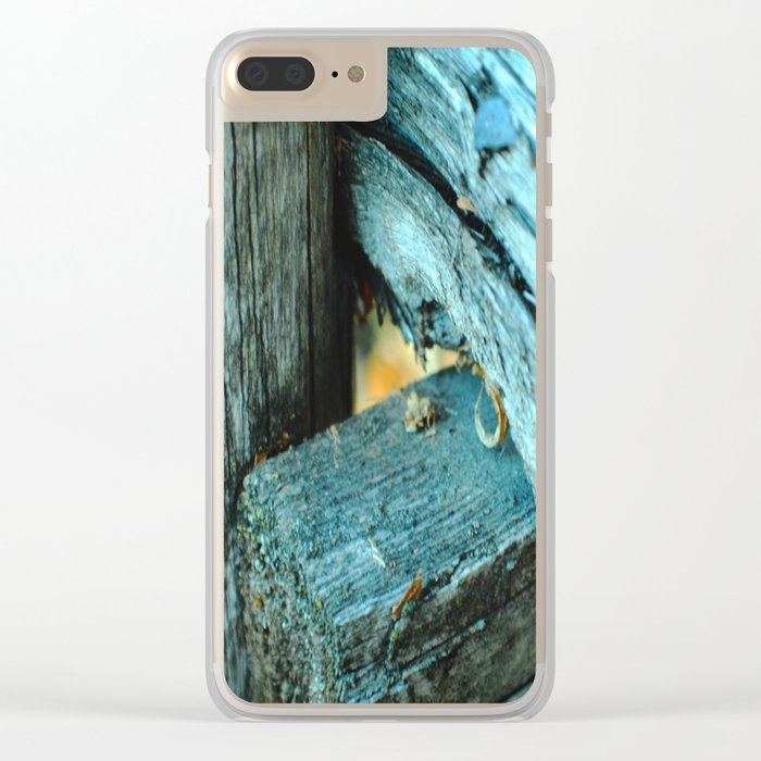 Wood Triangle Clear iPhone Case