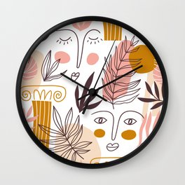 Faces of Greece Wall Clock