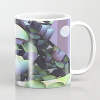 sci fi Mugs featuring Sci-fi town by thea walstra