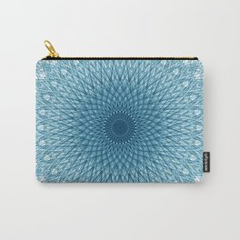 Stroked Quantum Mandala Blue 1 Carry-All Pouch