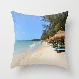 Otres Beach Sihanoukville Cambodia Throw Pillow