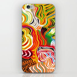 colored flow iPhone Skin