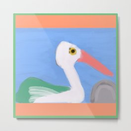 Swan on a Lake Metal Print