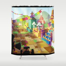 Dia De Los Muertos Day Shower Curtain