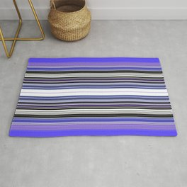 Bright bold Blue And Purple Stripe Rug