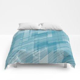 The Blue Hash - Geometric Pattern Comforters