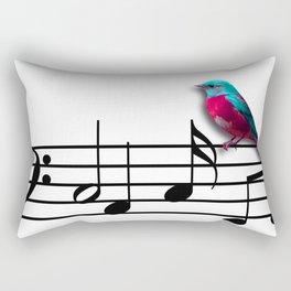 Bird on Music Sheet Rectangular Pillow
