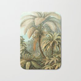 Vintage Tropical Palm Bath Mat