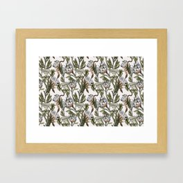 Pattern botanical boho Framed Art Print