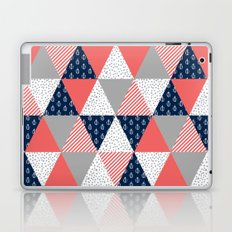 Quilt nautical navy and white modern trendy basic pattern print nursery pattern Laptop & iPad Skin