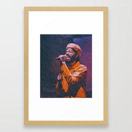 .Protoje. Framed Art Print