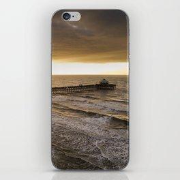 Folly Beach Pier in Gold iPhone Skin