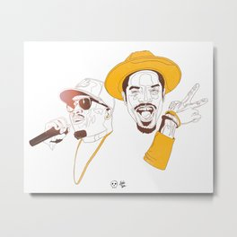 Andre 3000 and Big Boi Metal Print