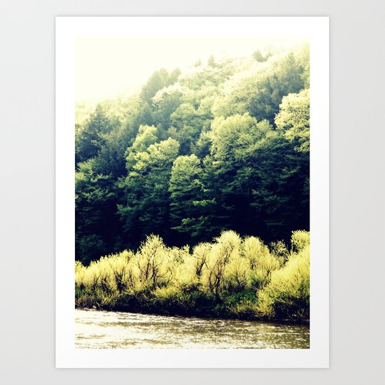 Sun-Kissed Muddy Water Art Print