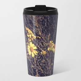 Yellow Desert Flowers Travel Mug