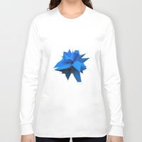 polygon Long Sleeve T-shirts featuring Blue Polygon by error23