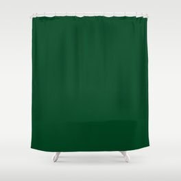 Forest Green (Traditional) - solid color Shower Curtain