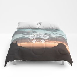 Your Vibe Attracts Your Tribe - Monument Valley Comforters
