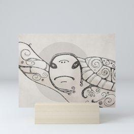 Judgemental Sea Turtle  Mini Art Print