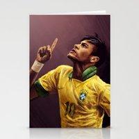 neymar Stationery Cards featuring Neymar Jr. by apfelgriebs