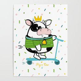 Little princess by Pig & Cow Poster