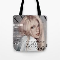 snk Tote Bags featuring SnK Magazine: Hisotria by emametlo