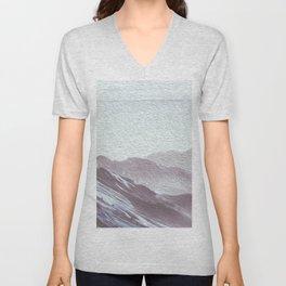 Grey Blue Mountains 3 Unisex V-Neck